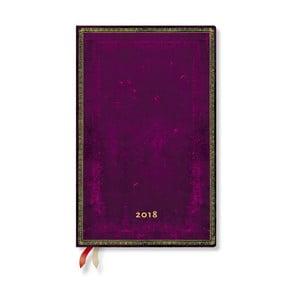 Diář na 2018 s vertikálním rozložením Paperblanks Cordovan Maxi