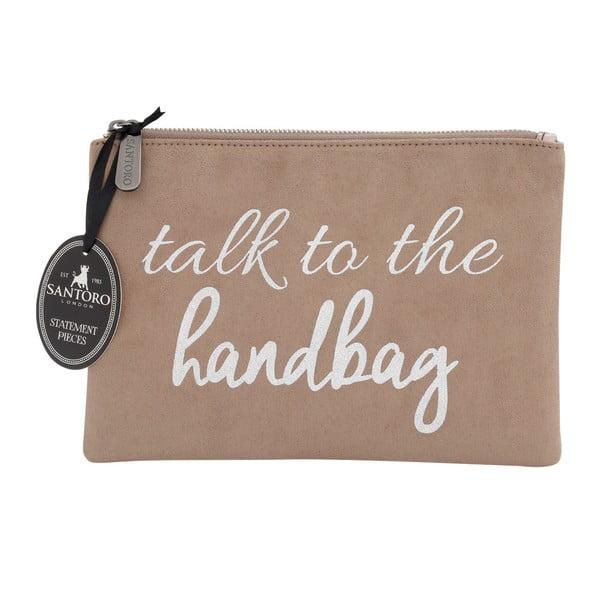 Hnědé dámské psaníčko Statement Pieces Talk to Handbag, 24 x 17 cm