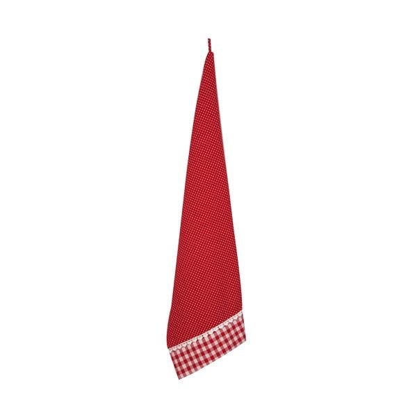 Kuchyňská utěrka Basic Hearts 50x85 cm, červená
