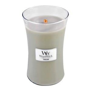 Lumânare parfumată WoodWick, aromă de chihlimbar, vetiver și mosc, 130 ore