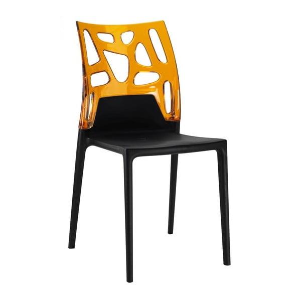 Židle Ego Rock, black/amber
