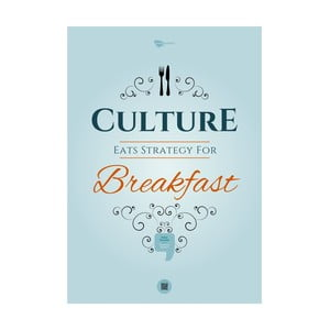 Plakát Culture eats strategy for breakfast, 70x50 cm