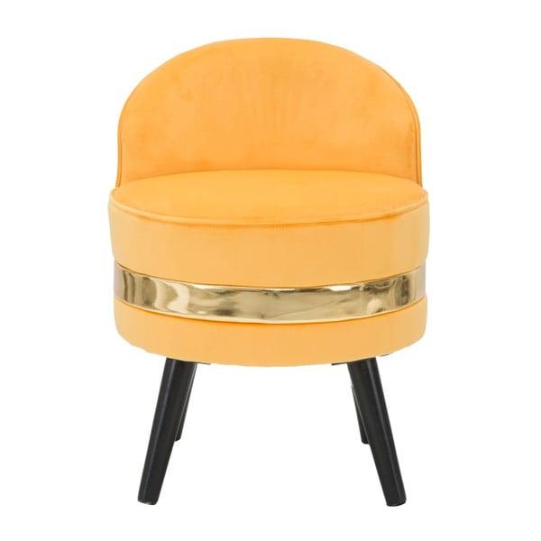Žlutá polstrovaná křesílko s nízkou opěrkou Mauro Ferretti Paris
