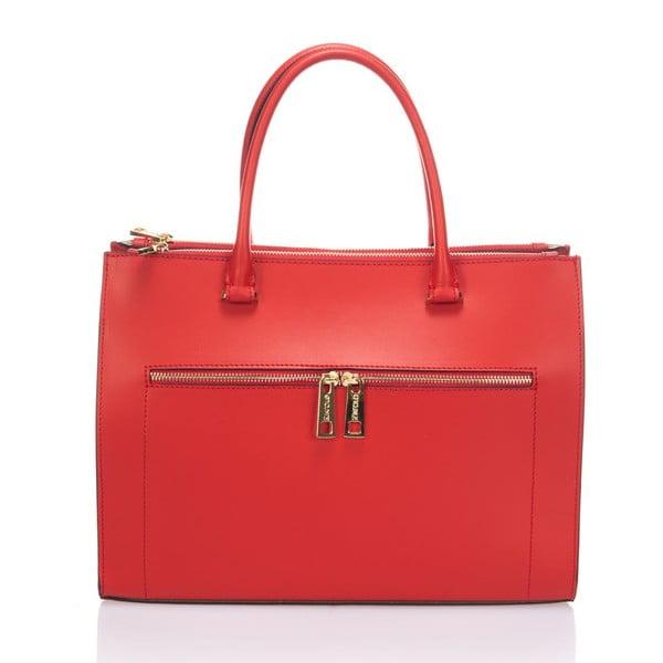 Kožená kabelka Krole Kate, červená