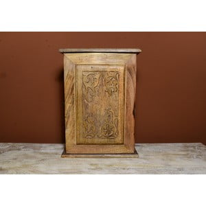 Bílá skříňka na klíče s motivem slona Indie