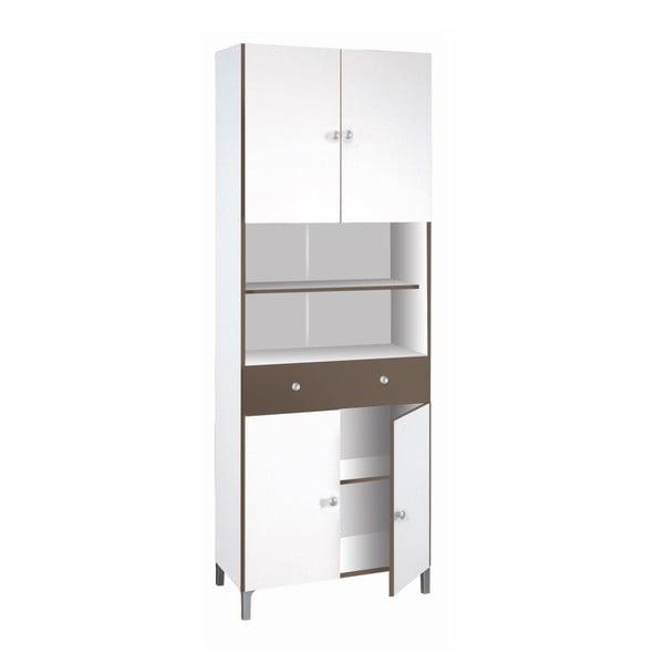 Bílo-šedá kuchyňská skříňka 13Casa Luotto