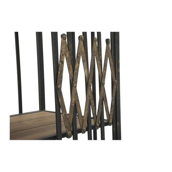 Knihovna z jedlového dřeva a kovu Mauro Ferretti Elevator, výška 168 cm