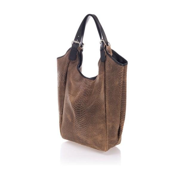 Kožená kabelka Italia 887 Fango