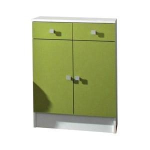 Zelená koupelnová skříňka 13CasaClick