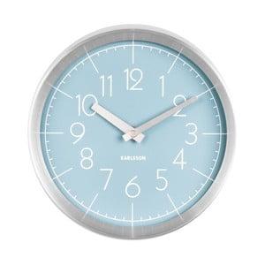 Modré nástěnné hodiny Karlsson Convex