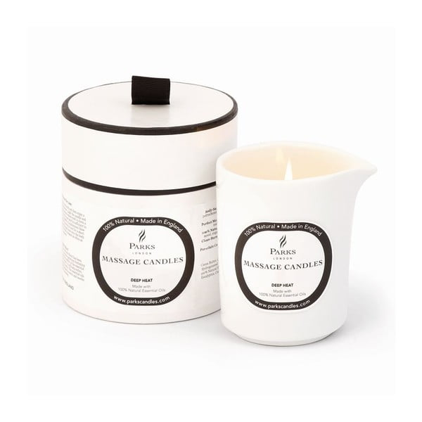 Świeczka do masażu o zapachu eukaliptusa i cynamonu Parks Candles London Deep Heat and Warming, 50 h