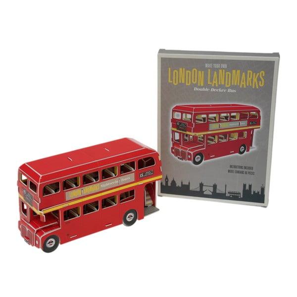 Puzzle cu autobuz londonez din carton Rex London Routemaster