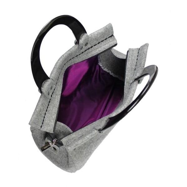 Plstěná vyšívaná kufříková kabelka do ruky Flos