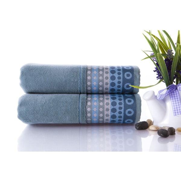 Set dvou ručníků Golf Water Green, 50x90 cm