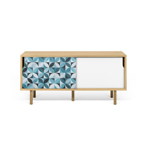 Mała szafka pod TV z dębowego drewna TemaHome Dann Morocco
