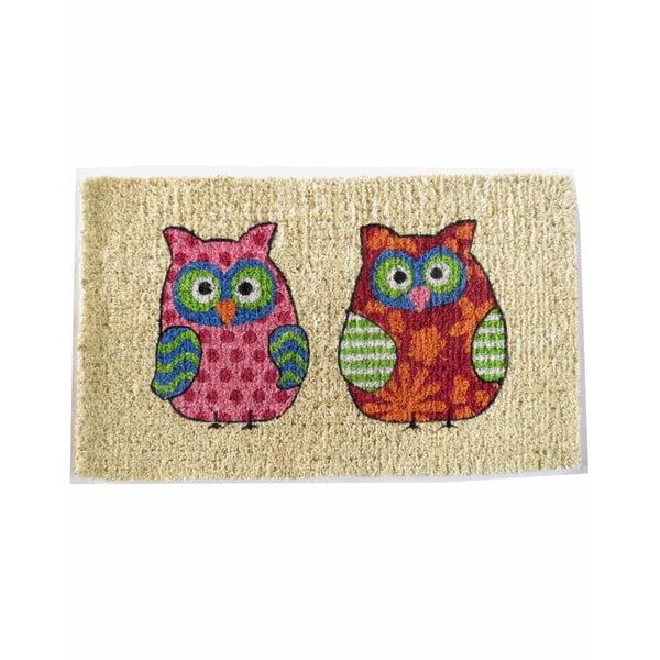 Rohožka Two Owls, 73x43 cm