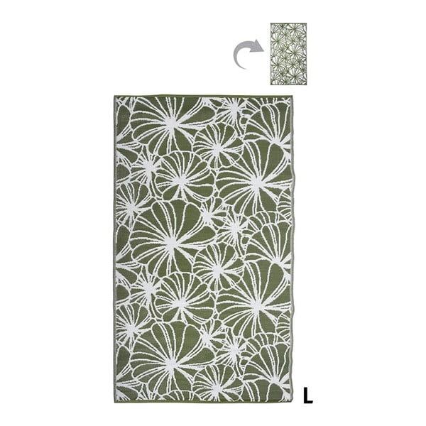 Oboustranný venkovní koberec Esschert Design Flowers, 152x241cm