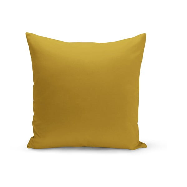 Tmavě žlutý polštář s výplní Lisa, 43 x 43 cm