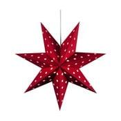Závěsná svítící hvězda Dotty, Ø45 cm, červená