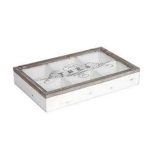 Bílý dřevěný box na čajové sáčky Antic Line