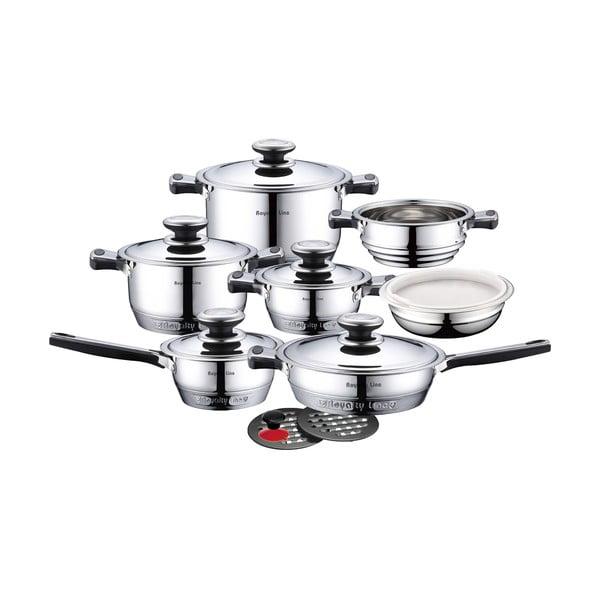 16dílná nerez sada hrnců a pánví Cookware