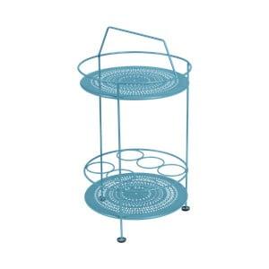 Modrý zahradní barový stolek Fermob Montmartre, Ø 40 cm