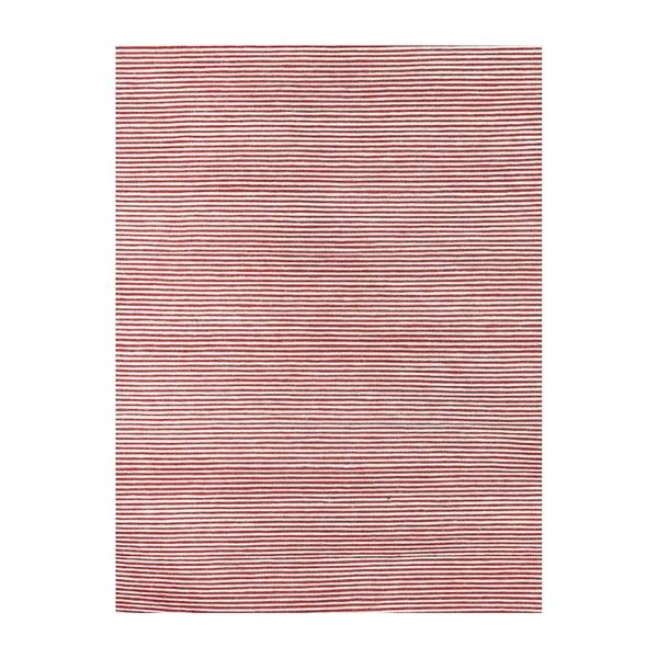 Vlněný koberec Casa Red/White, 160x230 cm