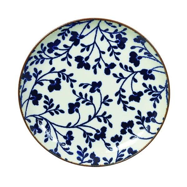 Modro-bílý talíř Tokyo Design Studio Fleur de Ligne,ø15,6cm