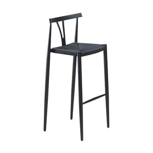 Černá barová židle DAN-FORM Denmark Alfa