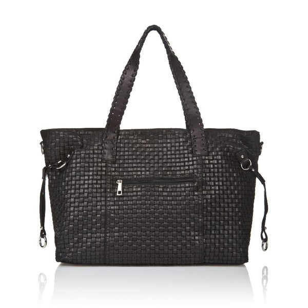 Kožená kabelka Markese 1156, černá