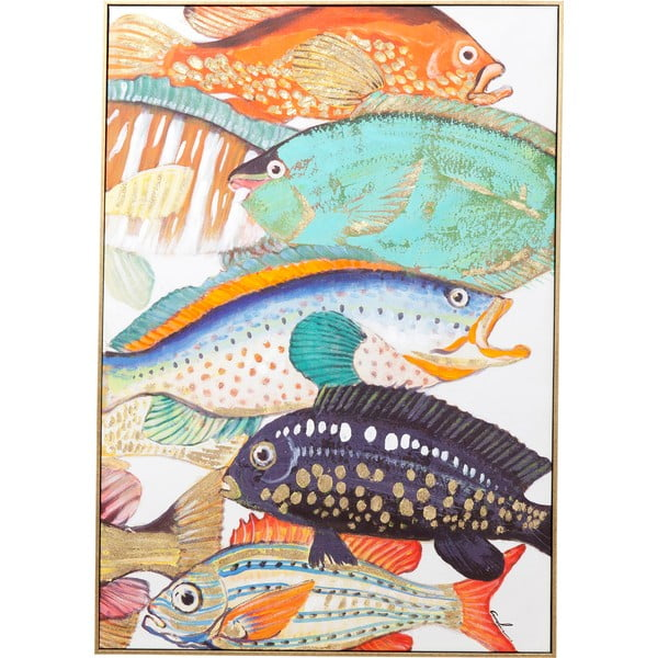 Tablou Kare Design Touched Fish Meeting II., 100 x 75 cm