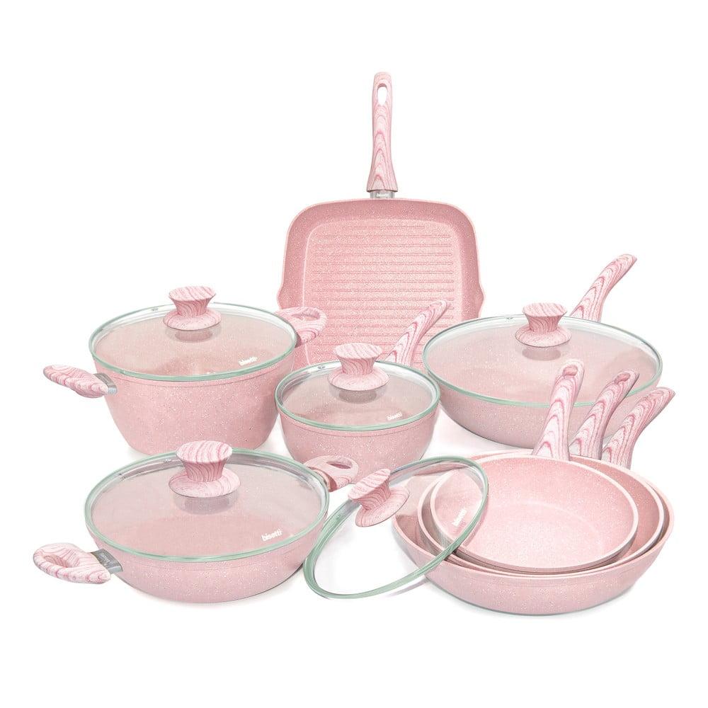 8dílný set nádobí s poklicemi Bisetti Stonerose Design