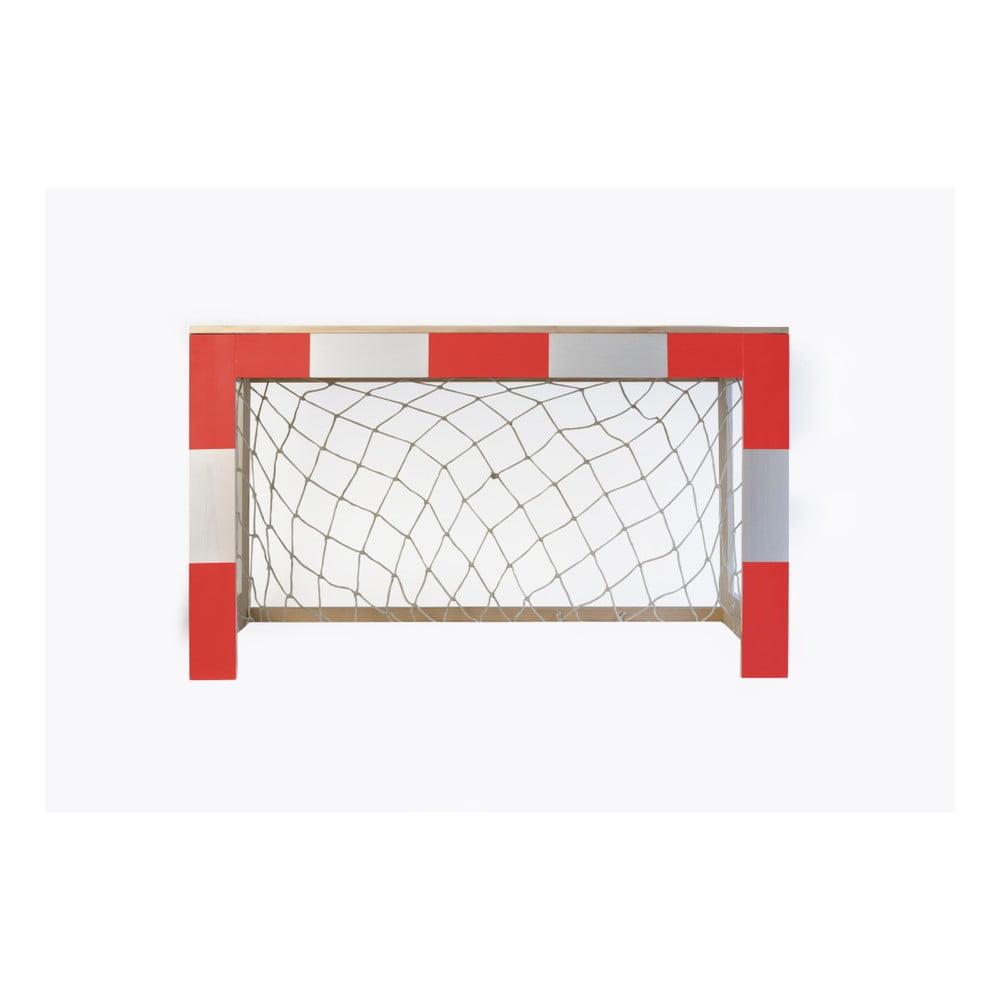 Červená dětská dřevěná brána na fotbal Little Nice Things