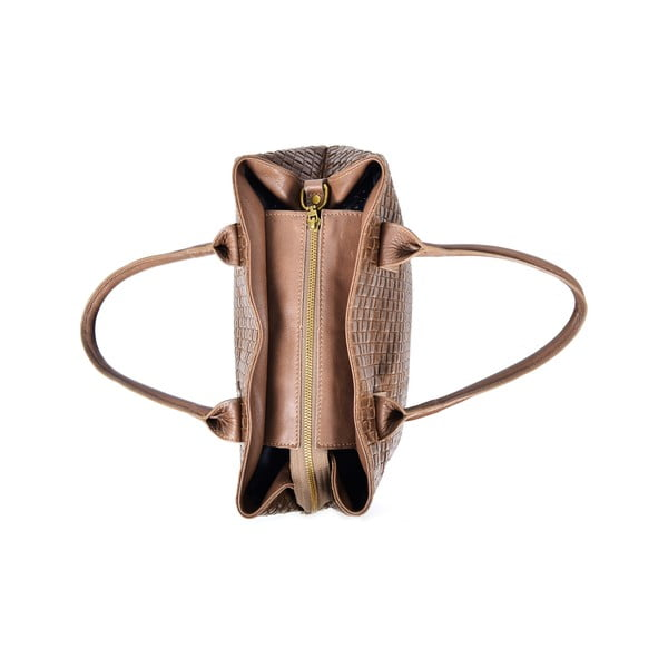 Kožená kabelka Dom, béžová