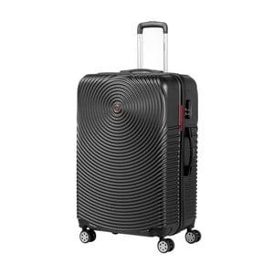 Černý kufr na kolečkách Murano Traveller, 75 x 46 cm