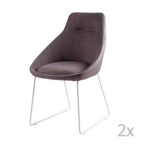 Set 2 scaune sømcasa Alba, gri deschis