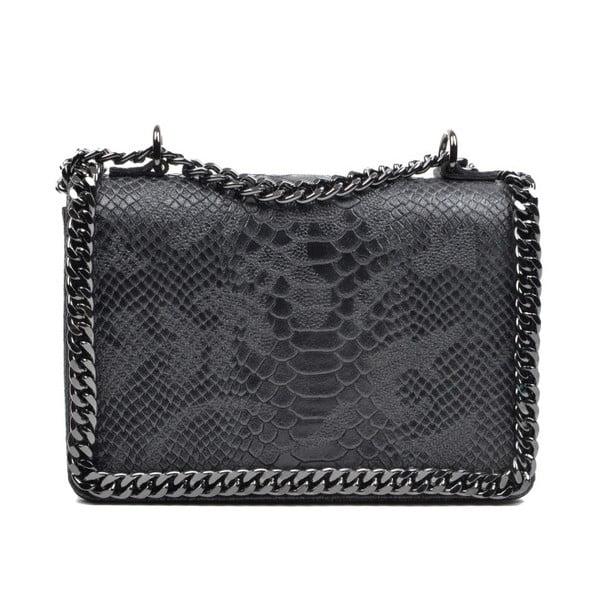 Čierna kožená kabelka Mangotti Sadia