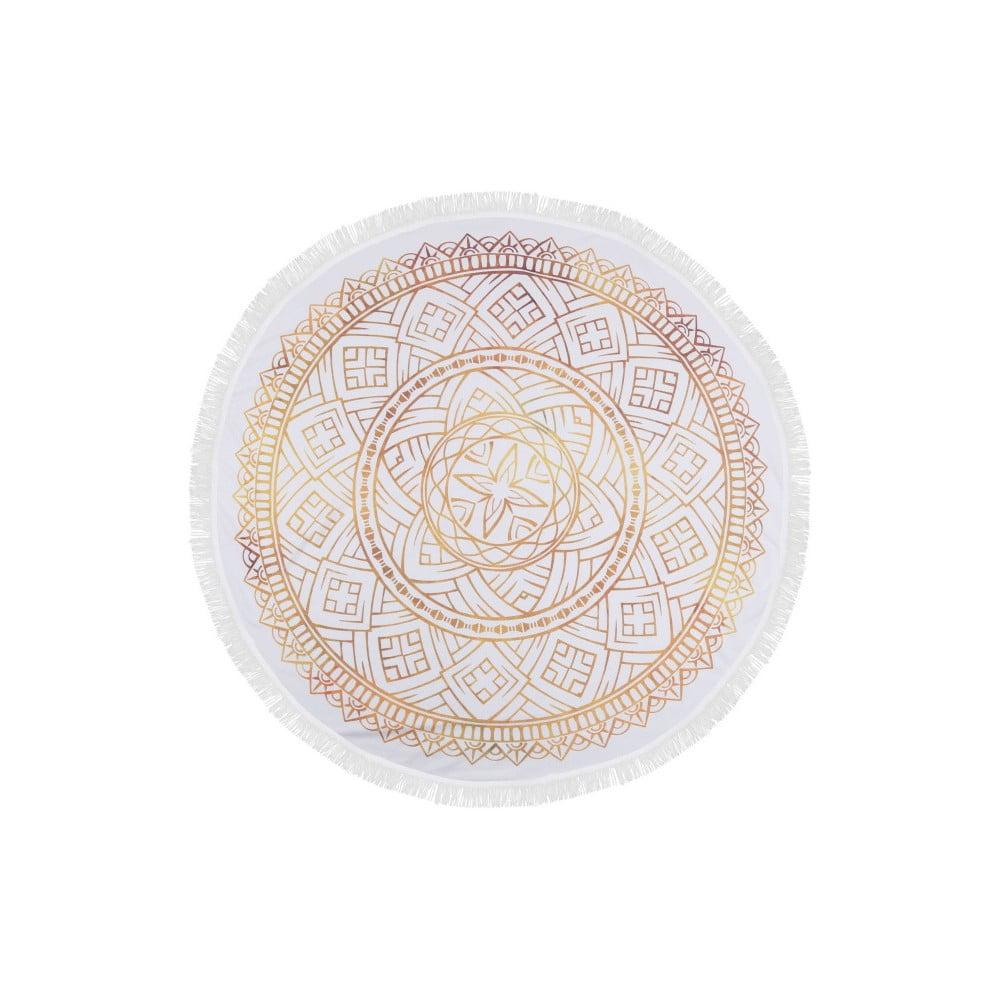 Barevná plážová osuška z bavlny Dhabi, ⌀ 150 cm