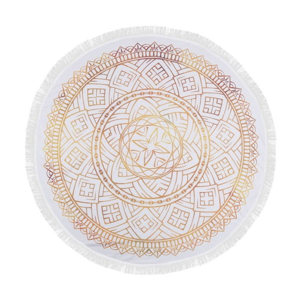 Barevná plážová osuška ze 100% bavlny Dhabi, ⌀ 150 cm
