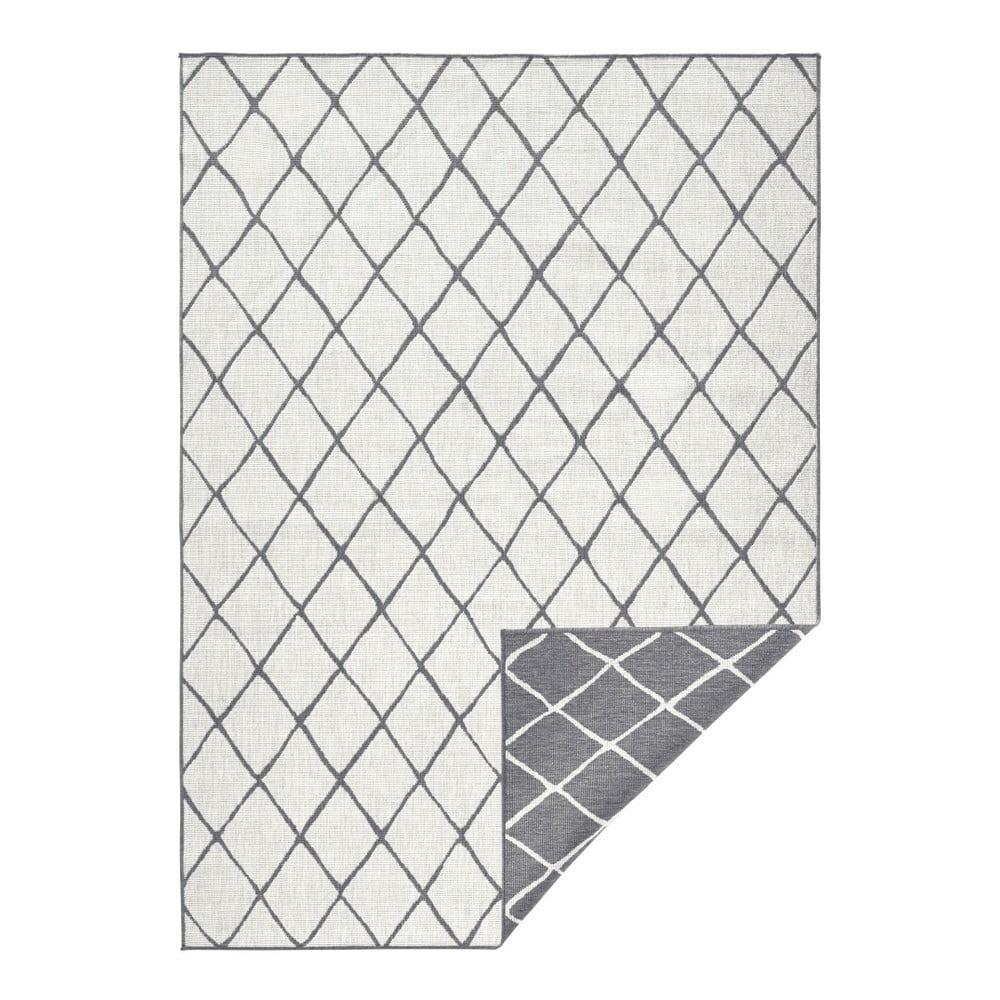Šedý vzorovaný oboustranný koberec Bougari Malaga, 160x230 cm