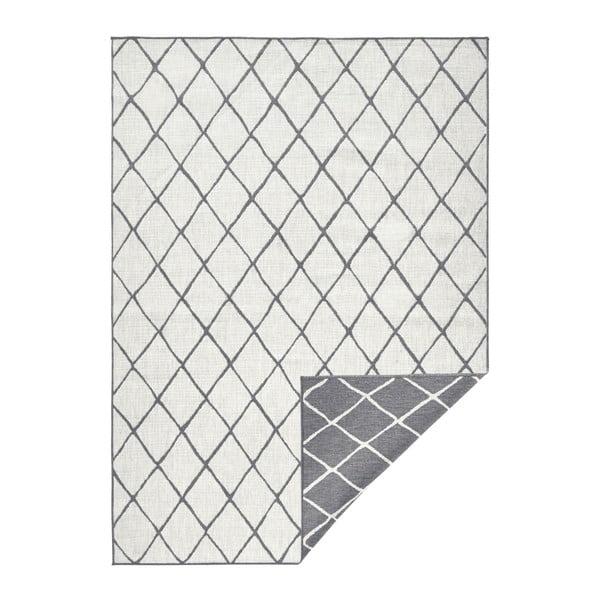 Šedo-krémový venkovní koberec Bougari Malaga, 160x230 cm