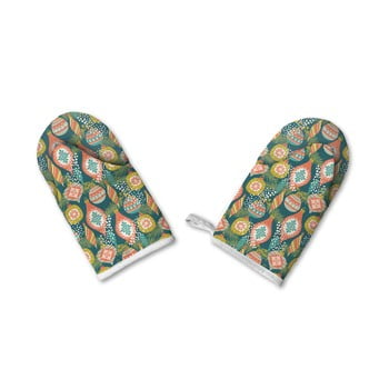 Set de 2 mănuși de bumbac de Crăciun Retro Kings Kings Ornaments imagine