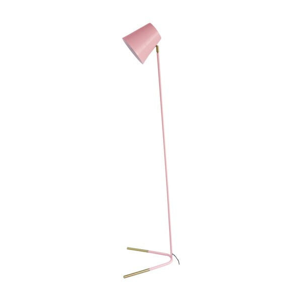 Ružová stojacia lampa s detailmi v zlatej farbe Leitmotiv Noble
