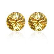 Cercei suflați în aur alb cu cristale Swarovski Elements Crystals Emma