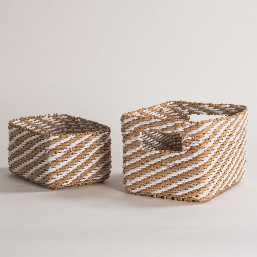 Sada 2 béžových úložných košíků Compactor Basket Claudie