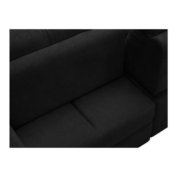 Černá rohová rozkládací pohovka Windsor & Co Sofas, pravý roh Alpha