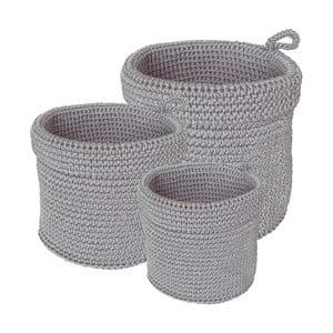 Sada 3 koupelnových košíků Light Grey Baskets