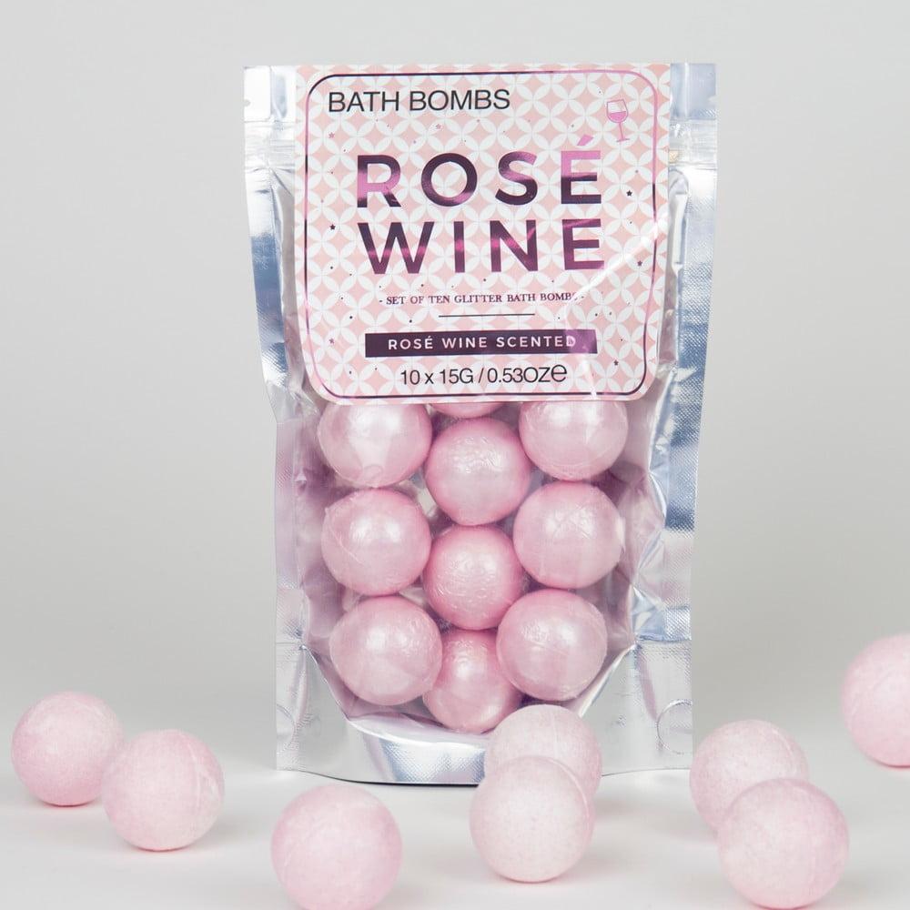 Bomba do koupele svůní růžového vína Gift Republic