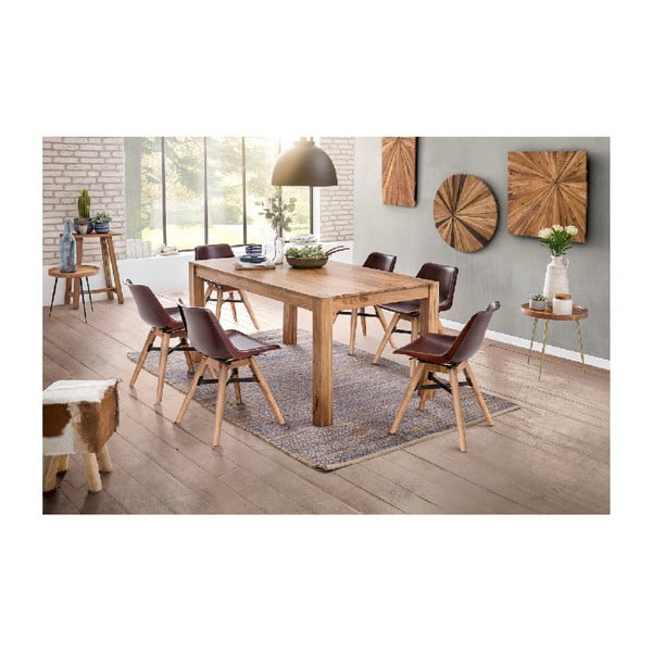 Odkládací stolek z akáciového dřeva WOOX LIVING Noah, ⌀46cm