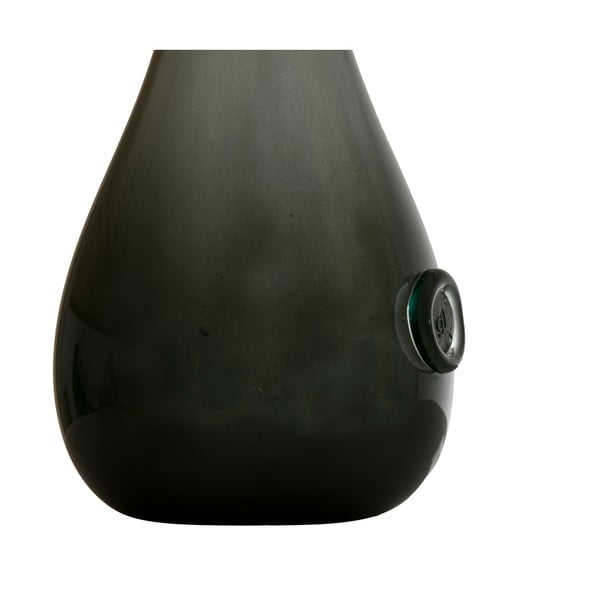 Skleněná váza Swan 70-80 cm, olivově zelená